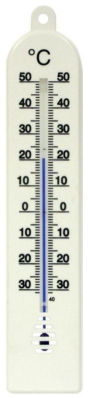 teploměr 24x5cm univ., -30°C+50°C, PLASTIK II PO15