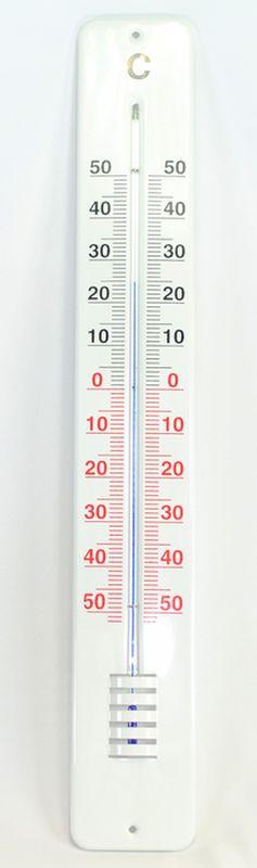 teploměr 62x9cm venk., -50°C+50°C, Al nástěnný