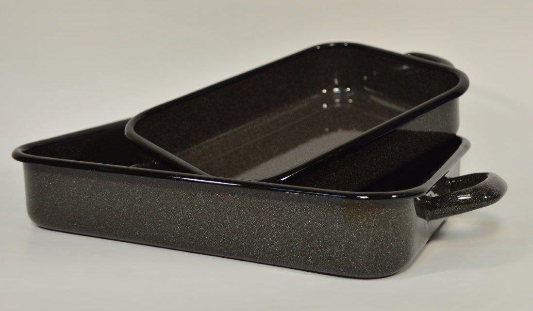 pekáč 28cm s uchy, OLYMP - hnědý granit, 1,5l