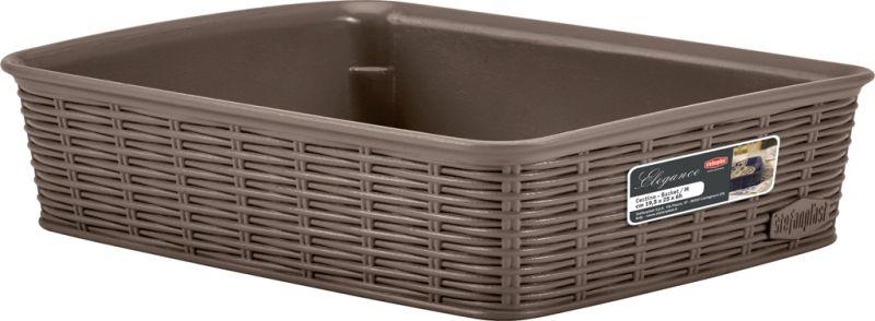 košík 25x19,5x6cm, sv.hnědý ELEG.-M, im.ratan