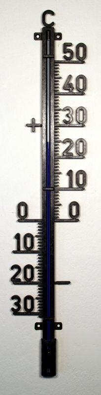 teploměr 48cm venk., -30°C+50°C, černý plast