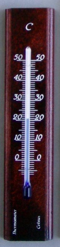 teploměr 14x3cm pokoj., -10°C+50°C, mahag.