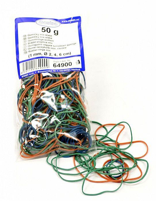 gumičky 50g MIX d2,4,6cm slabé