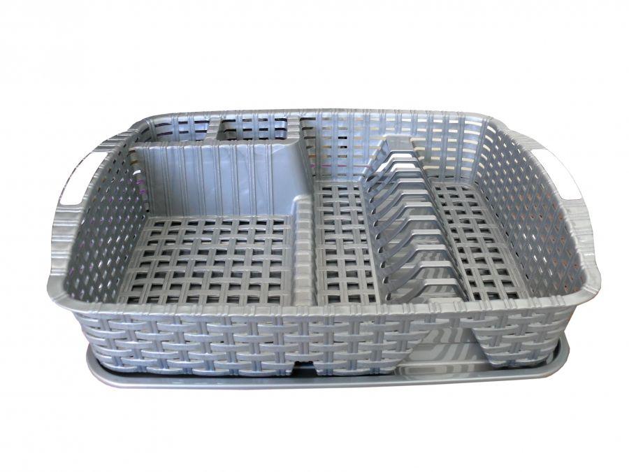 odkapávač 48x38x9cm MIX, RATAN, na nádobí