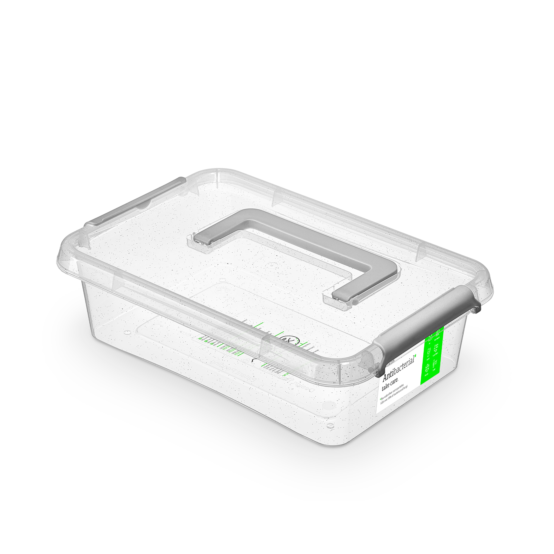 antibakter.box  3,1 l 29x20x8cm,rukojeť,transp.pla