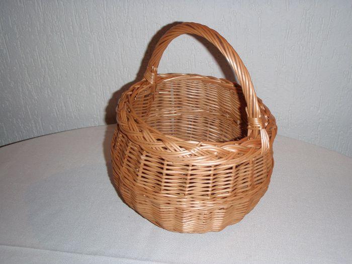 košík d15cm x10cm mini proutěný
