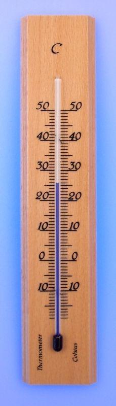 teploměr 14x3cm pokoj. -15°C+50°C, dř.přír.