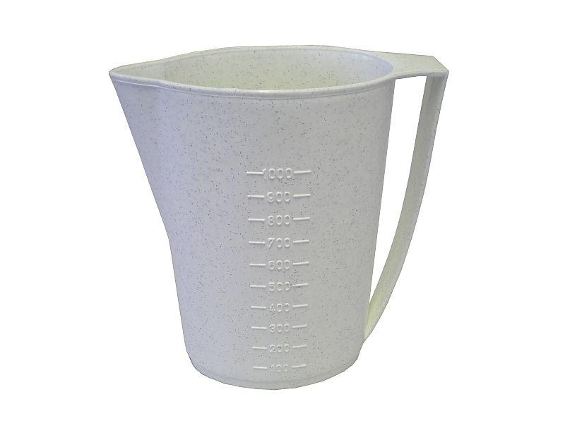 džbán 1,0 s výlevkou, ovál (sáčkové mléko), plast