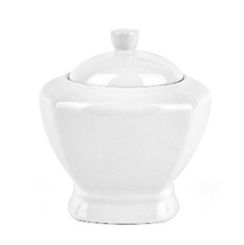 cukřenka 9,5x9,5cm, v.12,5 cm, keramika bílá