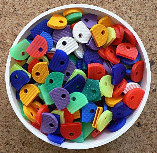 rozlišovač klíčů G-pružnější,plast.půlkruh