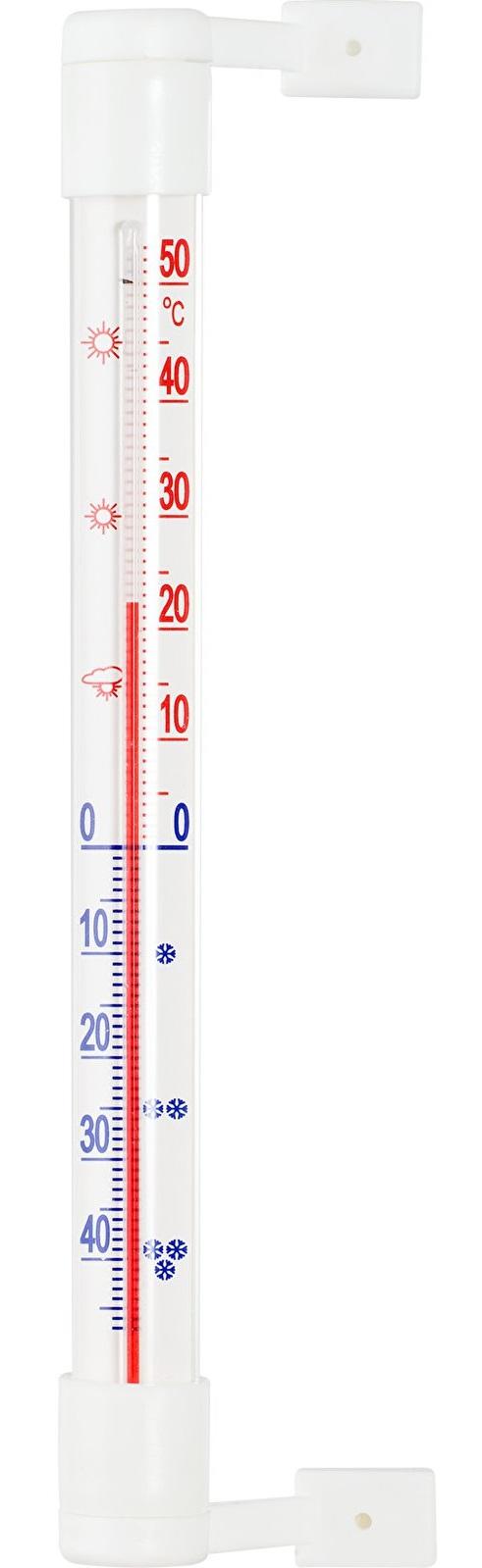 teploměr 19,0x1,8cm okenní, -50°C+50°C, samolep.,