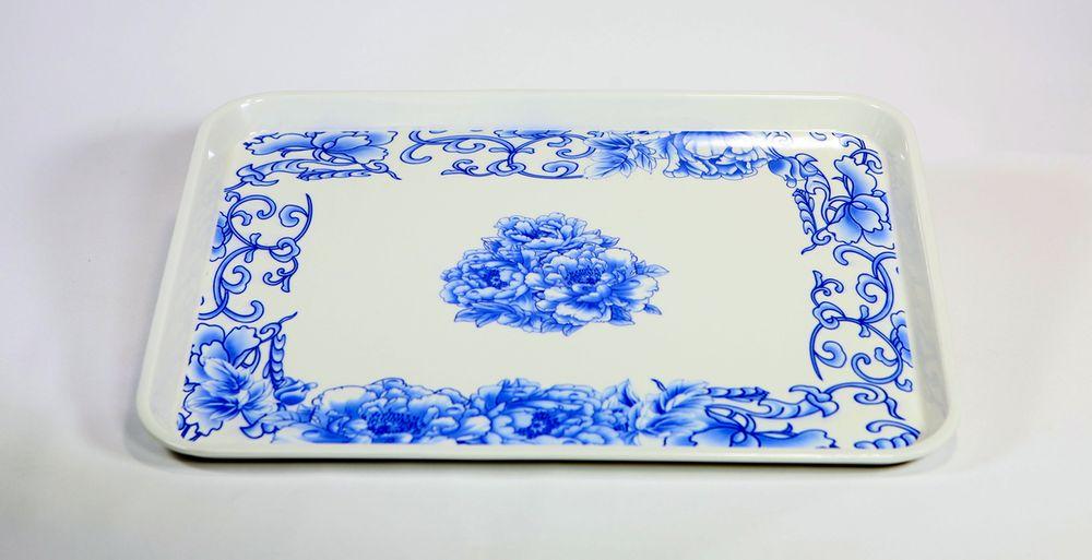 podnos 33x25cm dekorační, MODRÝ DEKOR, melamin