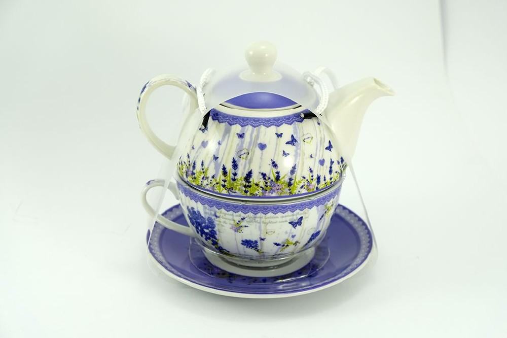 čajník LEVANDULE NOVÁ+šapo, porcelán