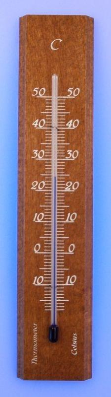 teploměr 14x3cm pokoj., -10°+50°C, dub