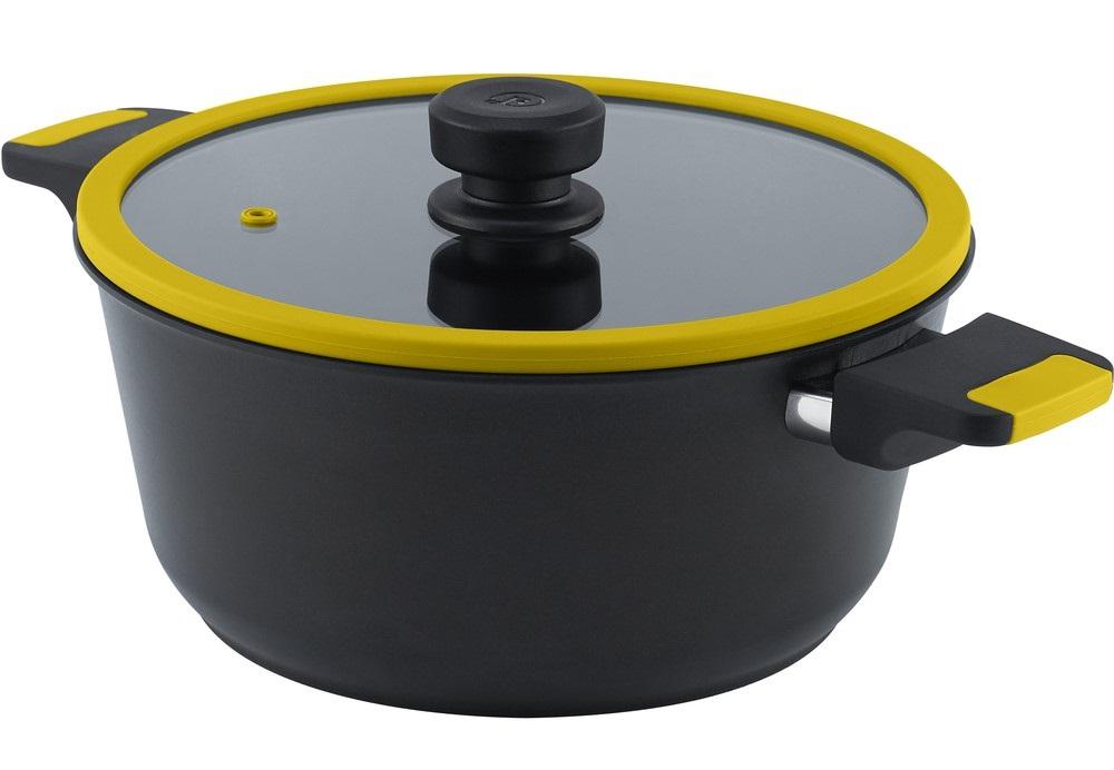 hrnec+PO d28 VEGA žlutý, v.11cm, 6,0l, indukce