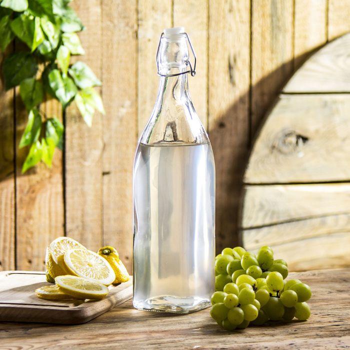 láhev 1,0l HRANATÁ, patent.uzávěr,sklo