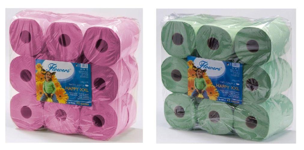 papír toal.2vr.,55m,200g,16+2role zdarma,Flowers H