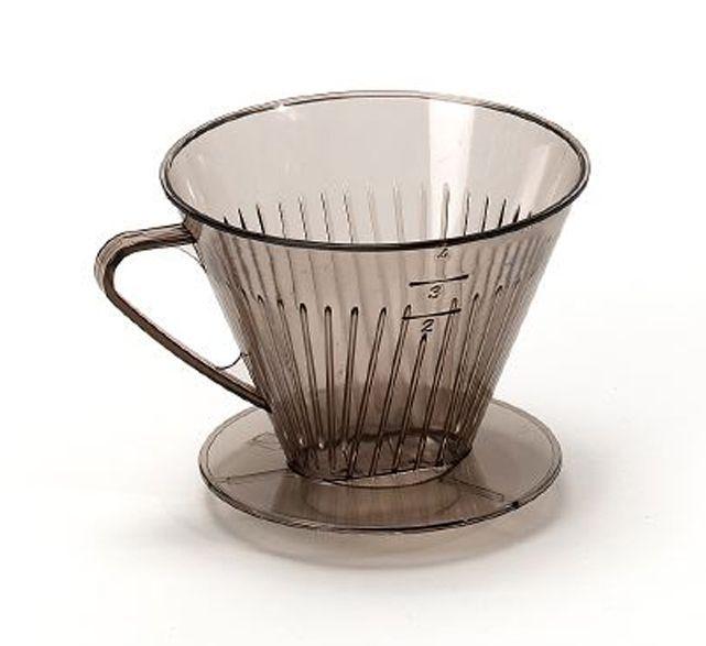 filtr na 4šálky kávy, nálevka, transp.plast