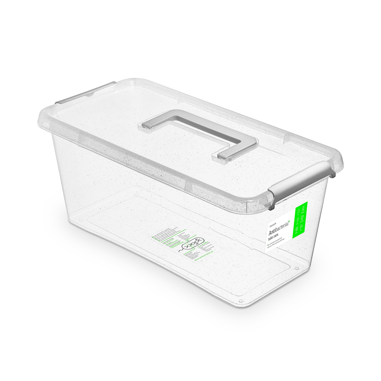 antibakter.box  8,0 l 40x20x16,5cm,rukojeť,transp.