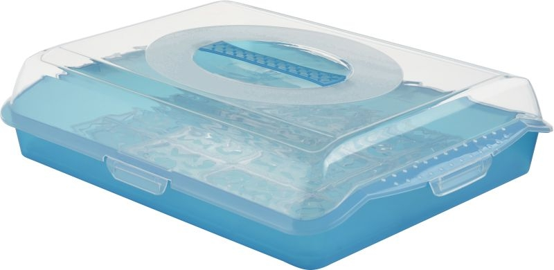 box PARTY-Butler, 35x45x11cm, sv.modrý transp..pla