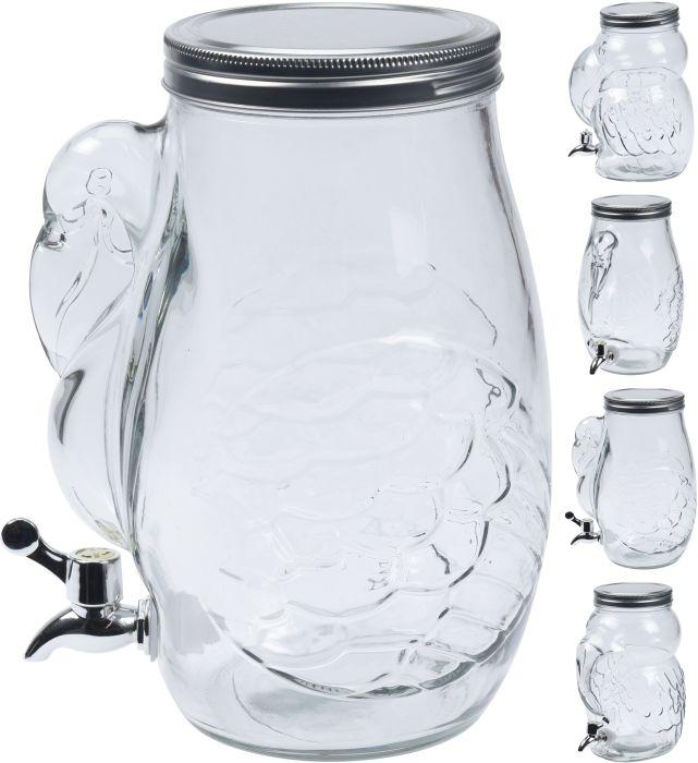 láhev 4,0l sklo s kohoutem,4 druhy