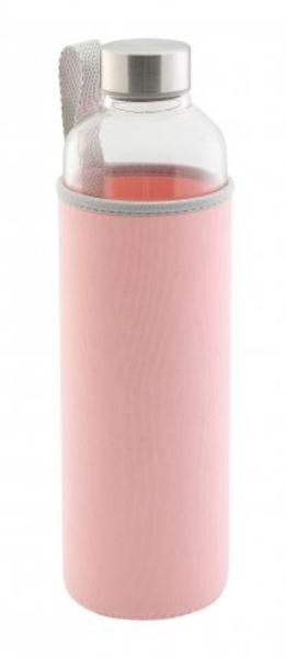 láhev 0,50l SPORT s nápit., růžová, var.sklo