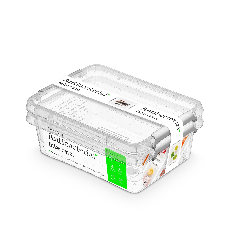 antibakter.box  1,15 l -sada-2ks, 19,5x15x8cm, tra