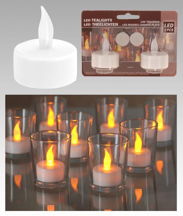 svíčka  2ks LED čajová