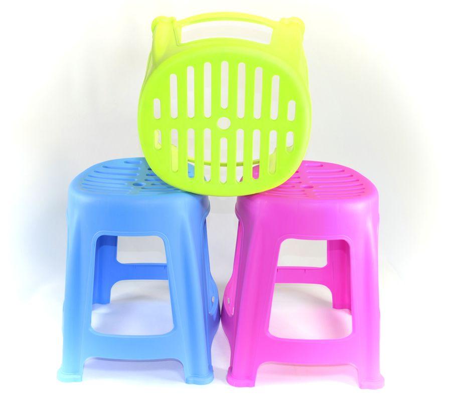 taburetka-židlička 26x24cm,v.32cm, s otvory, MIX b