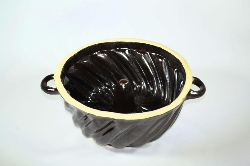 bábovka d26cm, 2,4l lisovaná, keramika