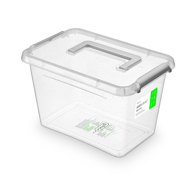 antibakter.box  6,5 l 29x20x18cm,rukojeť,transp.pl
