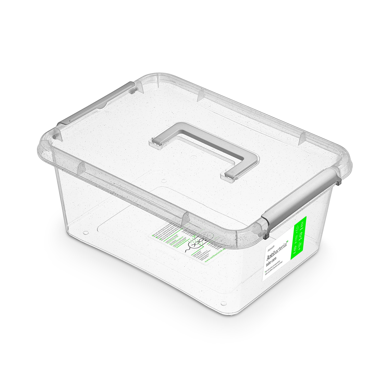 antibakter.box 12,5 l 39x29x16,5cm,rukojeť, transp