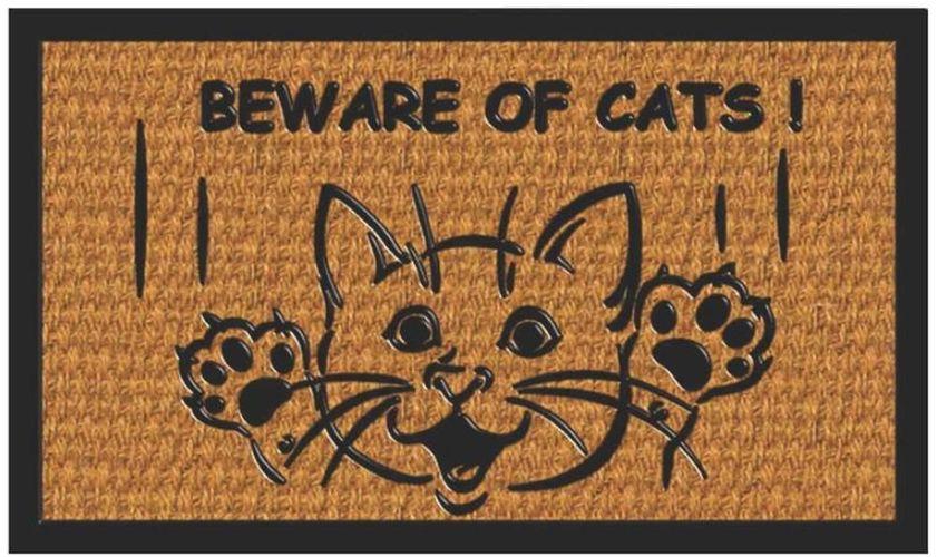 rohož  60x40cm, CAT-Kočka smích, guma+moř.tráva