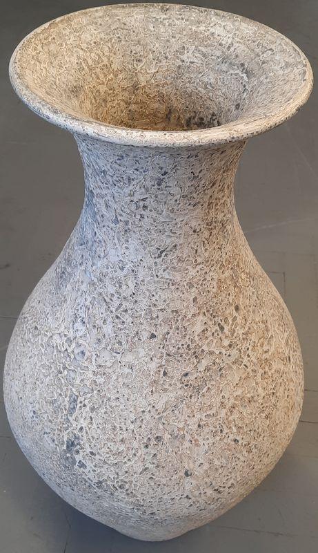 váza K 1H bílá 69x23cm, keramika