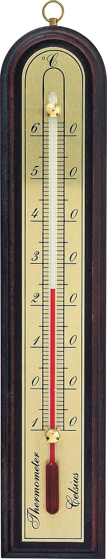 teploměr 15,0x4,3cm pokoj. -10°C+50°C, dř.+mosaz