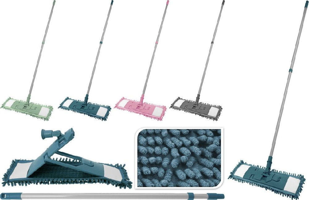 mop ULTRA CLEAN plochý žinyl 42x13cm.4barvy,telesk
