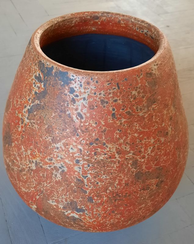 váza K 2E oranž 38x22cm, keramika