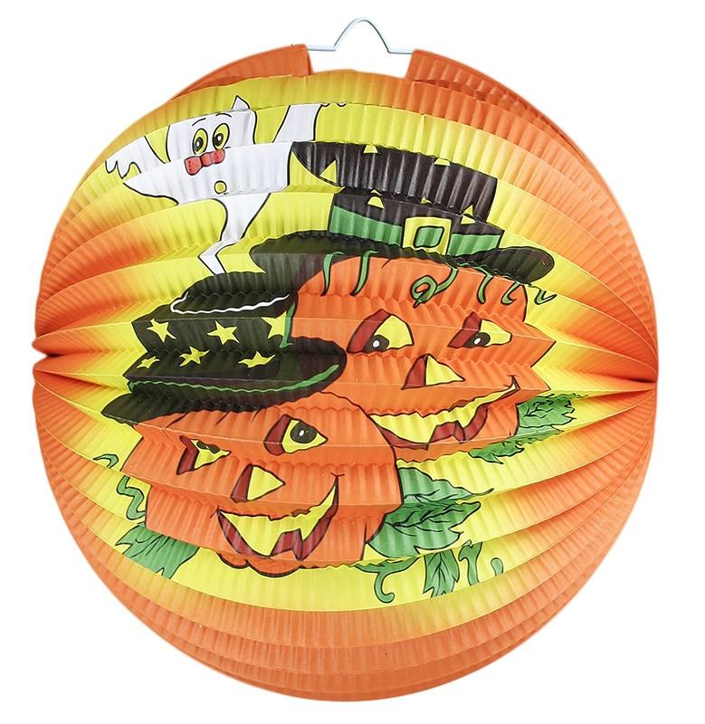 Lampion Halloween - veselé dýně 25 cm