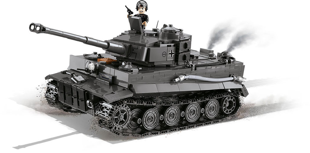 Stavebnice II WW Panzer VI Tiger Ausf. E, 800 k, 1