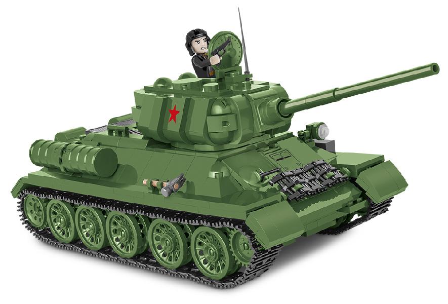 Stavebnice II WW T-34-85, 668 k, 1 f