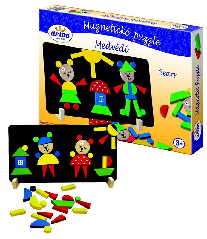 Puzzle magnetické - Medvědi