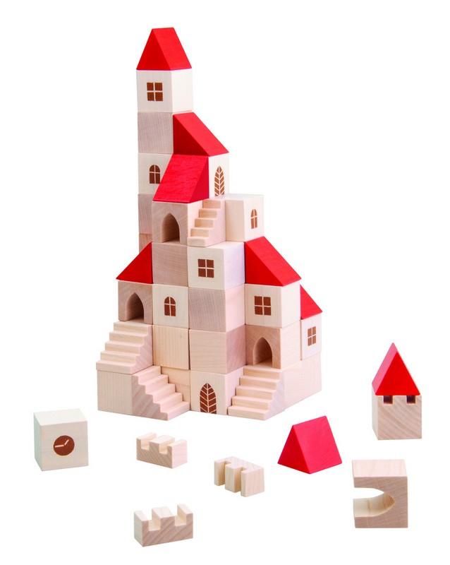 Dřevěná stavebnice městečko