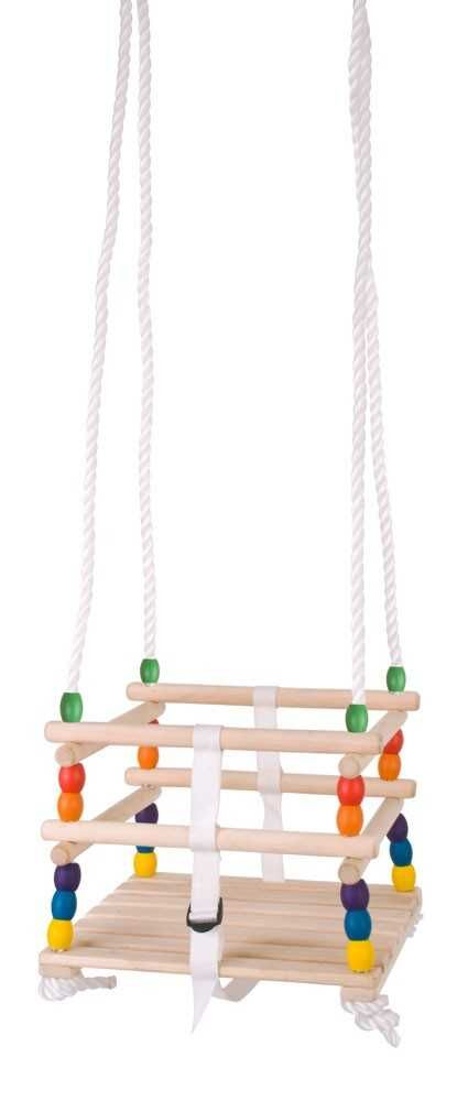 Bigjigs Toys Dřevěná korálková houpačka