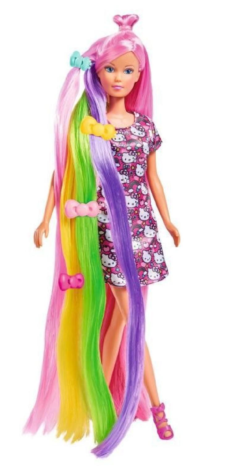 Panenka Steffi Hello Kitty s duhovými vlasy