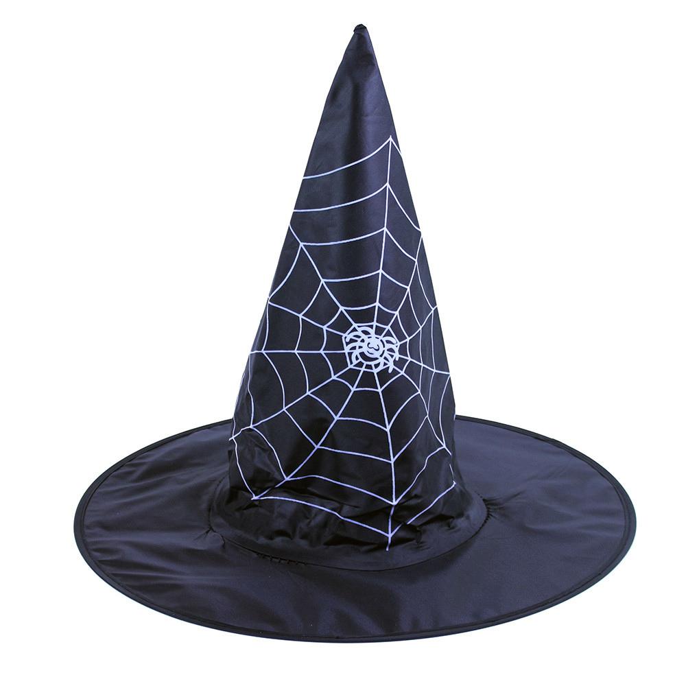 Dětský klobouk čarodějnice/Halloween s pavučinou