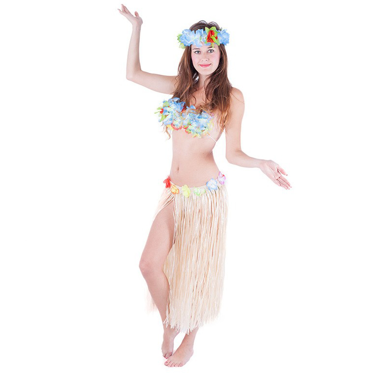 Sukně Hawaii dospělá 72 cm přírodní