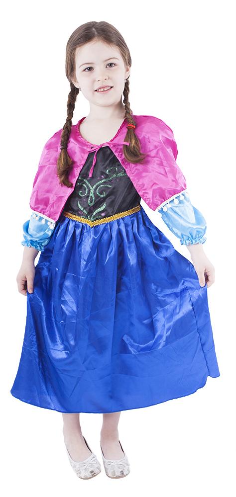Dětský kostým princezna zimní království - Anna (S