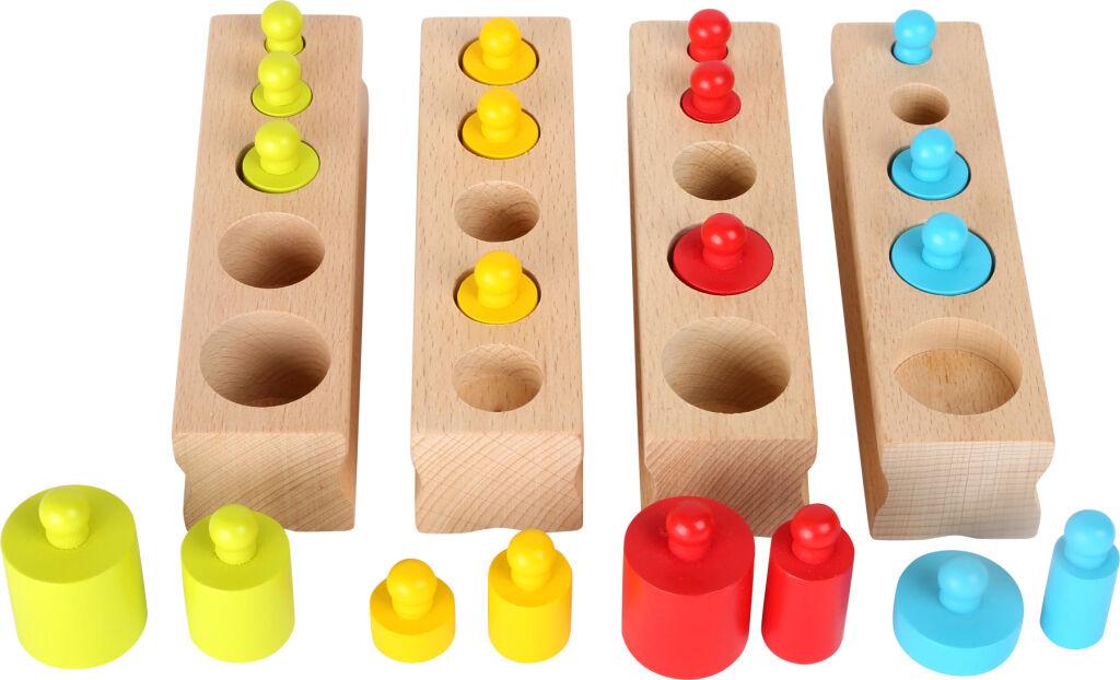 Small Foot Dřevěná vkládací závažíčka barevná