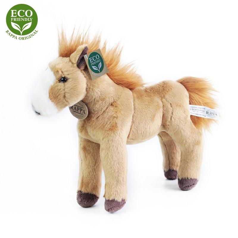 Plyšový kůň stojící světle hnědý 28 cm ECO-FRIENDL