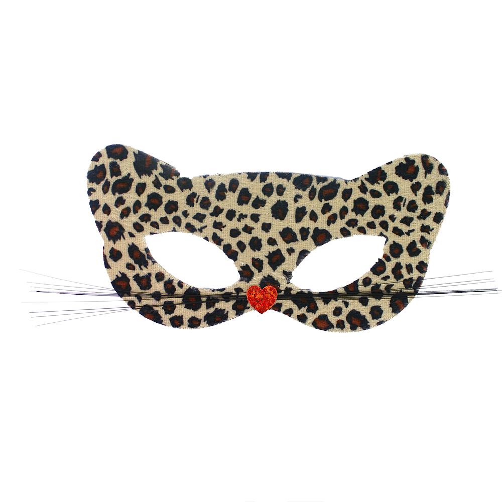 Škraboška karnevalová kočka 2 barvy